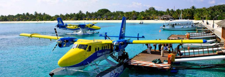 The seaplane that takes you around in Maldives. Photo Credit: Trans Maldivian Airways