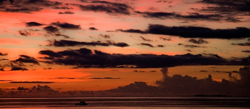 Sunset in Raja Ampat, West Papua - Photo by: Hulivili