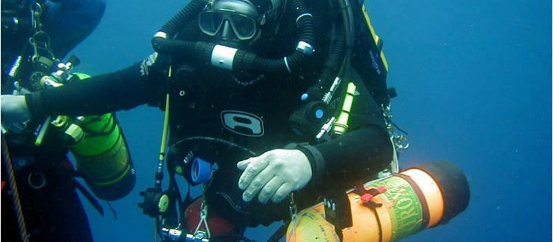 The tec diver - Photo: Dr Lyn Turner
